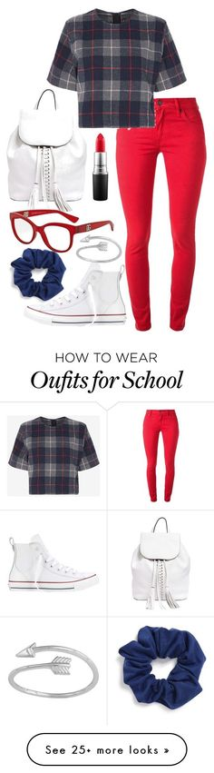 """School Sucks"" by thefangoddess on Polyvore featuring Natasha Couture, Burberry, rag & bone, Converse, Rebecca Minkoff, MAC Cosmetics and Dolce&Gabbana"