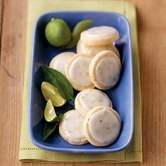 Key Lime Shortbread Cookies Recipe from Land O'Lakes