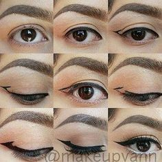 Also don't worry if your wing looks different on each eye, or isn't completely straight when closed. | 11 Glam AF Makeup Tips For People With Hooded Eyes