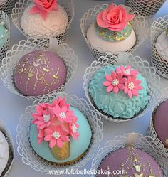 Antique themed cupcakes by Lulubelle's Bakes