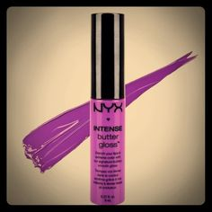 NYX Intense Butter Gloss NEW ONLY SWATCHED !  NYX Intense Butter Gloss Shade: Berry Strudel NYX Makeup Lip Balm & Gloss