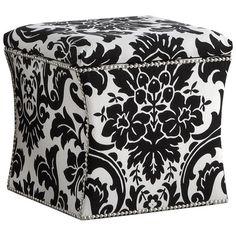Found it at Wayfair - Fiorenza Storage Ottoman in Black & White