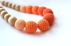 Orange Nursing necklace  Breastfeeding Necklace   by designML, $20.00