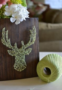 Decorative Wall Art Ideas in Simple Beautiful Motives: Elk Head String Art DIY ~ gnibo.com Ideas