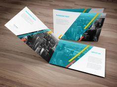 [FREE] Download - A4 Landscape Brochure Mockup preview - pamphlet - catalog - folded