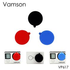 Vamson for Gopro Accessories 3 in 1 Silicone Lens Cap Cover For GoPro Hero 4 3+ 3 for xiaomi for yi  Sport Camera VP617X #Affiliate