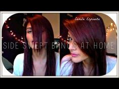 How To: Cut Side Swept Bangs/Fringe at Home - YouTube