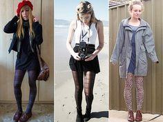 Como usar: Meia-calça colorida, branca, estampada e rendada | Just Lia
