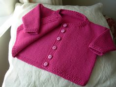 Jacket with Moss Stitch Bands for baby