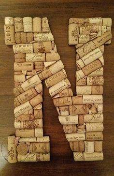 Letter N Custom 13 Handmade Wine Cork Letter by StudioMacOnline