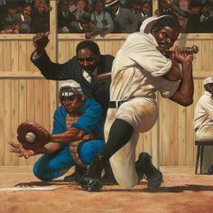 """Kadir Nelson re-imagines the classic scene from """"Casey at the Bat""""."""