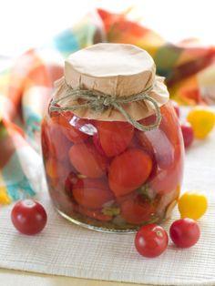 Cherry paradajky v octovom náleve