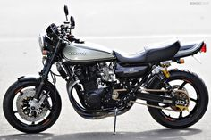 Kawasaki cafe racer by AC Sanctuary AC Sanctuary RCM-283 Kawasaki The economics of the custom business in Japan are very different to wh...