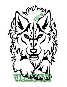 Spirit Face Patterns   Fierce Leaping Wolf Design by WildSpiritWolf