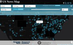 This interactive map,put togetherbythe Georgia Tech Research Institute and the University of Georgia's eHistory initiative, uses the Library of Cong ...