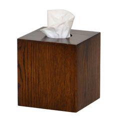 My design inspiration: Mezza Tissue Box Cube Dark Oak on Fab.