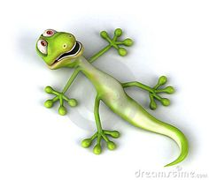 disenos de lagartijas | El gecko verde de la diversión, 3d generó el cuadro.