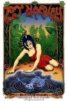 "PJ Harvey concert poster (click image for more detail) Artist: EMEK Venue: Rock City Location: Nottingham, England Concert Date: 9/8/2004 Edition: signed and numbered out of 300 Size: 20 1/2"" x 31 1/2"