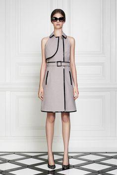 Misch A-Line Dress - Jason Wu (Leave it to Beaver Spring Summer Medium Patterns Black Brown Gray Belt Sleeveless A-line)