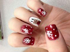 My Christmas nails (: