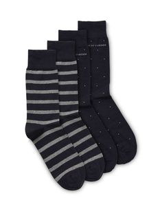 Valtorta socks-Men's socks in soft cotton-stretch blend. Feature all-over jacquard knitted stripe with contrast-coloured toe and heel. Printed Tiger of Sweden logo on sole.