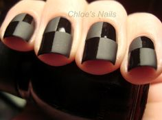 Matte Checkers Nails