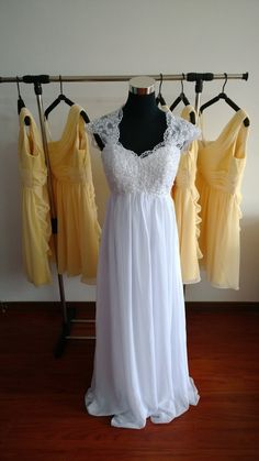 Hey, I found this really awesome Etsy listing at https://www.etsy.com/listing/212257625/lace-bridesmaid-dress-chiffon-prom