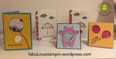 Stampin Up Shaker card weather together yummy in my tummy balloon celebration love you lots umbrella shaker sprinkles card