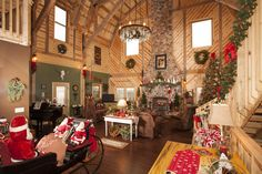 Barn Home Ready for the Holidays!  Sand Creek Post & Beam https://www.facebook.com/SandCreekPostandBeam