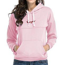 Fensajomon Womens Classic Hoodie Cat Print Drawstring Hooded Pullover Sweatshirt 1 XS