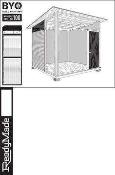 Edgar Blazona MD100 Modular Shed / Studio Plans 11x17