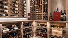 Custom walnut millwork and high end metal racking create a traditional and clean wine cellar room. Send us an email to start on a design today! info@paproconsulting.com Glass Wine Cellar, Wine Cellar Design, Wine Cellars, Wine Glass, Metal Rack, Wood Wine Racks, Wine Collection, Wine Storage, Construction