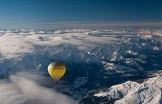Globo en los Alpes...