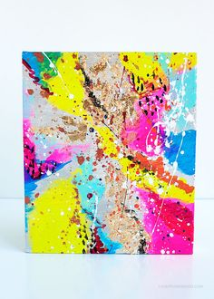 Loved It, Made It: Abstract Art Painting DIY - Love From Ginger