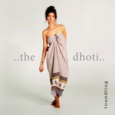 ..perfect for the beach, ideal to pop on straight out of the shower - or dress up for dinner - the 'Amani' strapless dhoti - strapless tube-style dress with shirred elastic back & front ties in our 'Amani' Indian border print. Step in & tie up - a holiday essential! www.foundling.com.au