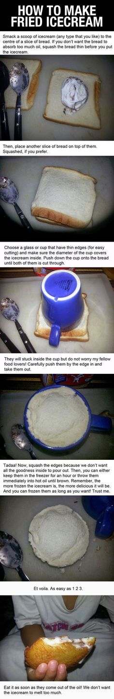 How to make fried ice cream.