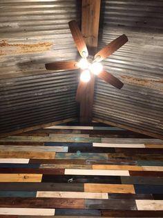 Corrugated Metal, Barndominium, Ceiling Fan, Rustic, Home Decor, Country Primitive, Decoration Home, Corrugated Tin, Room Decor
