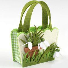 Más que un envoltorio es un regalo por sí mismo, bonito cesto de fieltro para regalos
