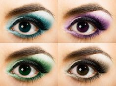 Different colors for dark brown eyes!