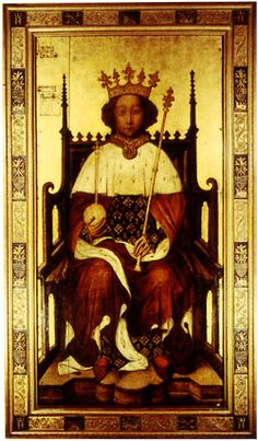 On this day 16th July,1377 The Coronation of Richard !I, aged 10. He was King of England until he was deposed in 1399. his mother was Joan of Kent 'Plantagenet' Princess of Wales and of Aquitaine. She was married to Thomas Holland, first Earl of Kent, Order of the Garter. She was married to Edward Plantagenet, and John of Gaunt.