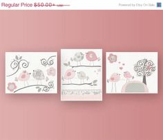 Baby Girl Nursery Decor Girl Nursery Art Nursery by DesignByMaya, $40.00