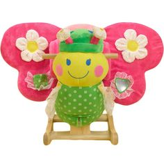 How adorable is this Butterfly Rocker?  Beautifully designed and full of hidden activities, this whimsical Butterfly Rocker features endless fun.  Great gift.