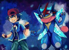 Ash and Greninja