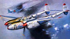 1943 P-38J Lightning 'Marge' (Richard I. Bong, Top WWII Allied Ace - Shigeo Koike