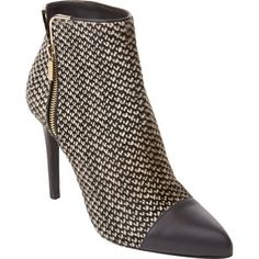 Lanvin Haircalf Side-Zip Ankle Boots at Barneys.com