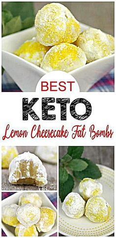 BEST ketogenic diet lemon fat bombs everyone loves. A great keto dessert recipes or keto snack. Keto fat bombs easy to make with this simple low carb high fat recipe for weightloos. NO BAKE lemon cheesecake Keto Fat, Low Carb Keto, Low Carb Recipes, Quick Recipes, High Fat Keto Foods, Cheesecake Fat Bombs, Keto Cheesecake, Blueberry Cheesecake, Quick Snacks