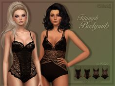 Sims 4 CC's - The Best: TRIUMPH BODYSUITS by Trillyke