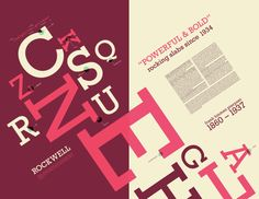 Rockwell Font Study on Behance