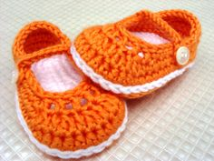 Crochet Mary Janes (pattern for sale)