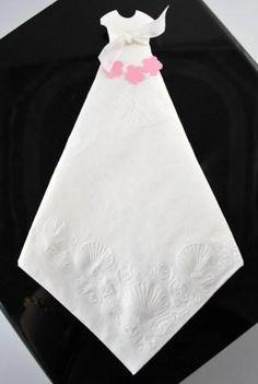 Bridal Shower Napkins | Bridal Shower Wedding Dress Napkins made with Stampin' Up! Punches